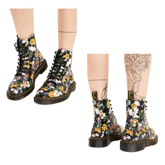 62b8c8eaf912a Dr. Martens Shoes | Dr Martens Pascal Darcy Floral Backhand Boots ...